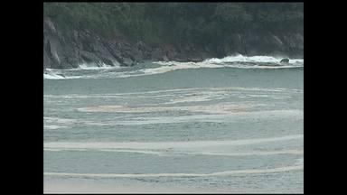 Divulgados resultados preliminares da análise de espuma no mar de Angra, RJ - Segundo o Instituto Estadual do Ambiente (Inea), uma grande quantidade de matéria orgânica em decomposição pode estar associada à floração de algas ao longo da baía da Ilha Grande.
