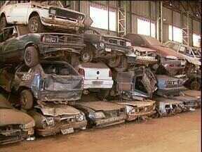 Polícia faz levantamento de carros apreendidos para liberar pátio lotado - Veículos estão envolvidos em investigações criminais.