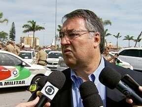Governador Raimundo Colombo fala sobre briga de torcedores na Arena Joinville - Governador Raimundo Colombo fala sobre briga de torcedores na Arena Joinville