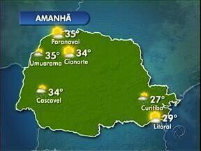 Fim de semana de muito calor no noroeste - A temperatura chega aos 37º em Paranavaí no domingo (15).