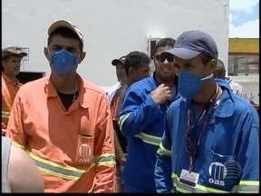 Obras em rodovia são liberadas e trabalhadores não querem voltar ao trabalho - Eles estão com medo de contrair meningite.