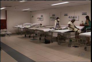 Piscinão do HGF é eliminado e dá lugar a uma enfermaria com 28 leitos - Pacientes foram transferidos para hospital que tiveram o número de leitos ampliado.