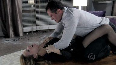 Bruno perde a cabeça após a confissão de Glauce - Ele tenta matar a médica