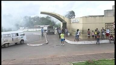 Fumaça invade Hospital de Taguatinga - Funcionários do hospital distribuíram máscaras para os pacientes, mas não havia para todos. Ninguém precisou de socorro médico.