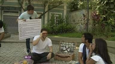 Daiane contracena com galãs Thiago Fragoso e Rodrigo Simas - Adolescente, que sonha ser atriz, interpretou uma cena real de Malhação
