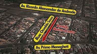 Confira mudanças no trânsito de Franca, SP - Rua Osvaldo Souza é mão único para motoristas que vão no sentido Centro-bairro.