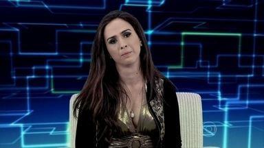 Boninho se surpreende com as atitudes de Valdirene - Ela causa a maior confusão na entrevista