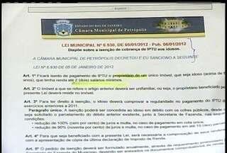 IPTU é cobrado de idosos com lei de isenção em vigor em Petrópolis, no RJ - Fazenda afirma que ato administrativo é suficiente para garantir a cobrança.Defensoria Pública vai solicitar documentos à prefeitura nesta quinta (16).