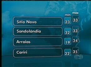 Confira a previsão do tempo no Tocantins para esta quinta-feira (16) - Confira a previsão do tempo no Tocantins para esta quinta-feira (16)