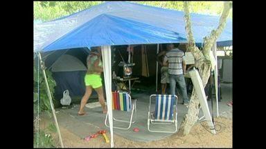 Famílias procuram diversão em camping's de Marataízes, Sul do ES - Segundo famílias, é uma forma de diversão aliada a liberdade.