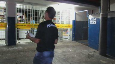 Criminosos explodem caixa eletrônico em supemercado de Passos (MG) - Criminosos explodem caixa eletrônico em supemercado de Passos (MG)