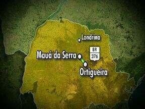Comerciantes que voltavam de Brusque são assaltados - Ônibus foi tomado de assalto por quatro bandidos, na BR 376, entre Mauá da Serra e Marilândia do Sul