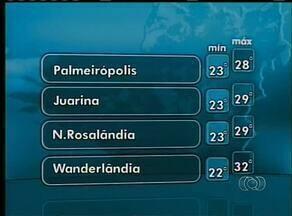 Confira a previsão do tempo para esta quarta-feira (22) no Tocantins - Confira a previsão do tempo para esta quarta-feira (22) no Tocantins
