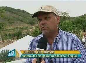 Ministro do Paraguai leva delegação para conhecer ações no Agreste - Intuito é conhecer estruturas feitas para combater problemas da seca.Projetos podem servir ao Chaco, região semelhante ao semiárido do Brasil.