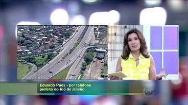 Eduardo Paes fala sobre acidente na Linha Amarela - Prefeito do Rio conversa com Fátima Bernardes