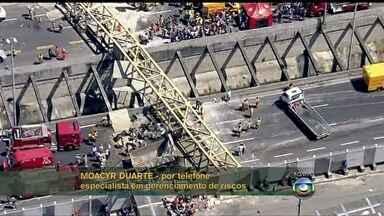 Moacyr Duarte fala da remoção da passarela derrubada por caminhão - Especialista diz que o tempo de interdição da via depende do estado da estrutura