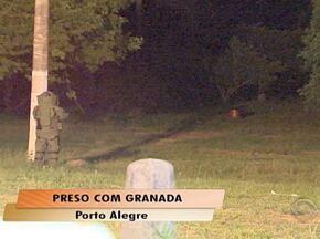 Homem é preso com granada de uso exclusivo do Exército em Porto Alegre - Polícia foi mobilizada para explodir o artefato.