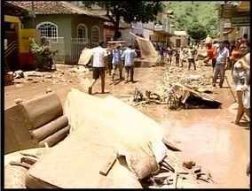 Cidade de Virgolândia ainda tenta se recuperar após fortes chuvas do mês de dezembro - Cenário ainda é de destruição.