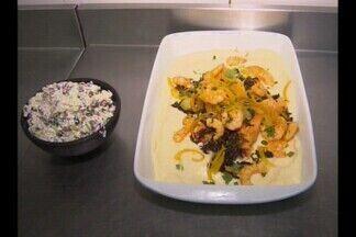 Culinária regional - Aprenda como se faz um camarão com carne de charque.