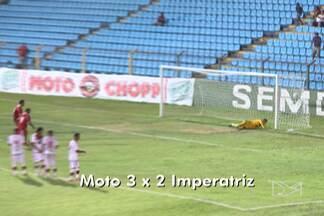Após dois anos fora da Série A, Moto Club estreou com vitória sobre o Imperatriz - Equipe rubro-negra venceu o time da região tocantina por 3 a 1, no Nhozinho Santos.