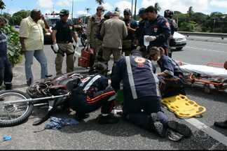 JPB2JP: Dois homens tentam assaltar casa lotérica e são baleados - Um fugiu, mas caiu de moto na BR 230.