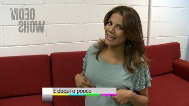 Nívea Stelmann chega ao Vídeo Show com cheirinho de bebê - Veja os bastidores da atriz no programa