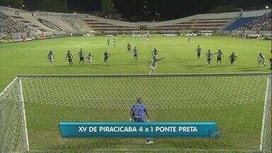 XV de Piracicaba goleia Ponte Preta em casa pelo Paulistão - No clássico regional, o Nhô Quin ganhou da macaca por 4 a 1 em casa na quarta rodada do Campeonato Paulista.