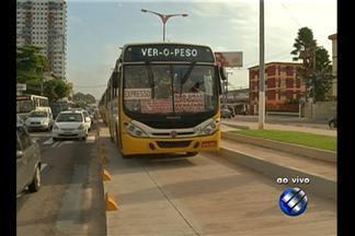 Em Belém, movimento é tranquilo no 1° dia de liberação de faixas do BRT - Ônibus expressos começam a circular pelo corretor do BRT nesta sexta. A princípio, apenas 120 coletivos de 19 linhas vão trafegar na canaleta.
