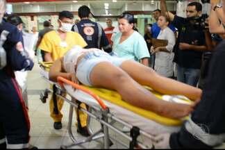 Adolescente foi agredida a tesouradas pelo ex-namorado, em João Pessoa - Ela estava em frente de casa, conversando com amigas, quando o agressor chegou fazendo ameaças e em seguida a agrediu com golpes de tesoura.