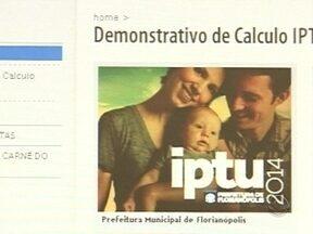Site de consulta ao IPTU de Florianópolis volta a funcionar - Site de consulta ao IPTU de Florianópolis volta a funcionar