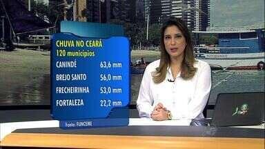 Chove em 120 cidades do Ceará nesta sexta; em Fortaleza, chuva causa transtornos - Maior chuva foi registrada em Canindé, de 63 milímetros.