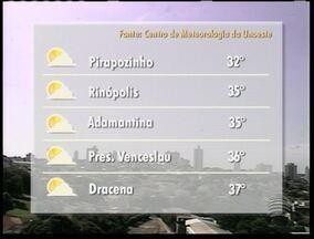 Temperaturas permanecem altas no Oeste Paulista - Climatologista afirma que neste ano que chuva está abaixo da média.