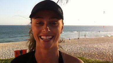 Luiza Módolo incentiva internauta a fazer circuito na praia e dá dicas - Tire algumas dúvidas com a bailarina do Faustão!