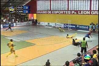 Erick faz grande defesa e promove contra ataque para a equipe do Canindé - Erick faz grande defesa e promove contra ataque para a equipe do Canindé