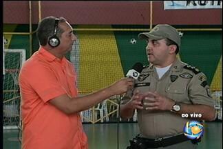 Segurança está garantida na Copa TV Grande Rio de Futsal - A PM e o Corpo de Bombeiros estarão de prontidão durante todo o evento.