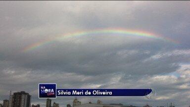 Previsão do tempo - A semana começou com tempo instável e arco-íris em Ponta Grossa.