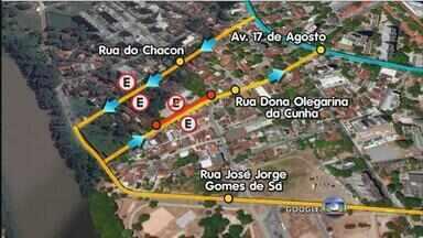Começa a funcionar o binário entre os bairros de Santana e Poço da Panela - Mudanças valem a partir desta segunda-feira e ruas passam a ter sentido único. Motoristas que trafegam entre os bairros devem ficar atentos.