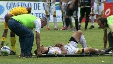 Lateral do Novoperário sofre lesão na costela no empate com Misto-MS - Adrian viu Pedro Hulk e Tom assinalarem para o Galo e Clênio e Caio, para o Carcará da Fronteira, na tarde de domingo, pela 10ª rodada do Campeonato Sul-Mato-Grossense.