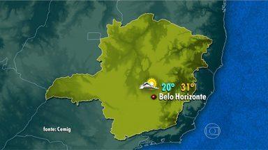 Frente fria avança para Minas Gerais e pode causar chuva no carnaval em BH - Temperatura na capital deve variar entre 20°C e 31°C.