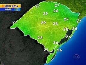 Tempo: previsão é de chuva na maior parte do RS nesta terça-feira - Confira as temperaturas.
