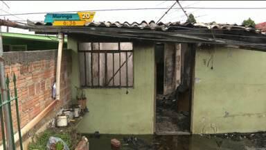 Menina resgatada de incêndio está em estado grave - A criança de 2 anos foi salva de um incêndio na casa dela ontem em São José dos Pinhais