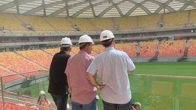 Governador faz inspeção nas obras da Arena da Amazônia, em Manaus - Estádio de Manaus para a Copa de 2014 será inaugurado no dia 9 de março.
