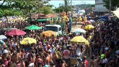'Porca da Quarta' canta a Copa com muita ironia no ES - Porco Dentinho animou os foliões do tradicional bloco da Barra do Jucu, nesta Quarta-feira de Cinzas.