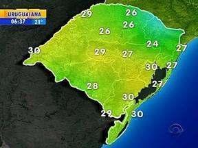 Tempo: previsão é de predomínio de sol nesta quinta-feira na maior parte do RS - Em Porto Alegre, a máxima é de 30ºC.