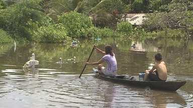Comunidades ribeirinhas são as mais afetadas com a cheia dos rios - Os distritos de Calama e Demarcação são algumas das mais expressivas.