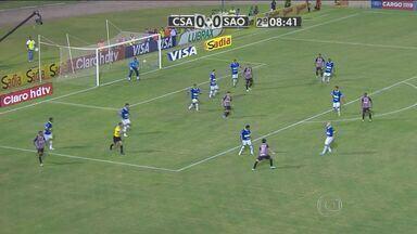Palmeiras e São Paulo vencem na rodada da Copa do Brasil - O atacante Pato teve boa atuação na partida contra o CSA, mas o destque do São Paulo foi o Osvaldo, que fez o gol da vitória. O Palmeiras entrou em campo em Rondônia e também venceu por 1 a 0 com gol do Leandro.