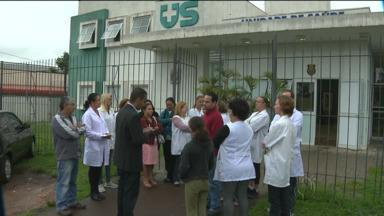 Posto de saúde é assaltado cinco vezes em um mês - Funcionários fizeram uma paralisação pela manhã para protestar.