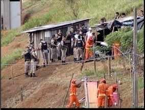 Policiais de Ipatinga são mobilizados para operação de reintegração de terras - A área no bairro Nova Esperança foi ocupada em janeiro deste ano.
