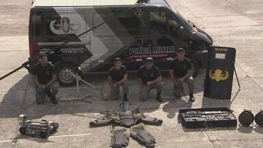 Em Manaus, esquadrão contará com robô durante a Copa - Copa do Mundo vai contar com equipamentos sofisticados de segurança; esquadrão anti-bombas terá traje especial e um robô.