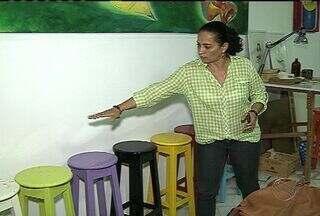 Telas avaliadas em mais de R$ 20 mil são levadas por assaltantes em Aracaju - Telas avaliadas em mais de R$ 20 mil são levadas por assaltantes em Aracaju.
